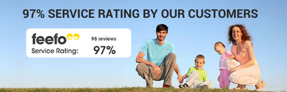 Genuine reviews through a</br> reputable 3rd party feedback service