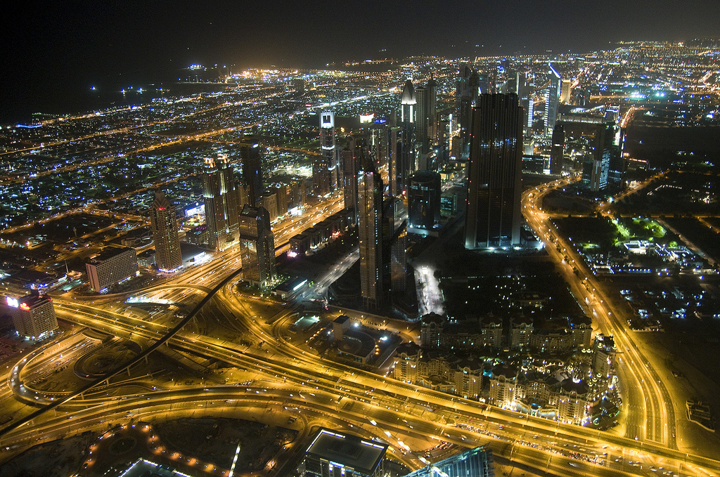 Dubai during the night