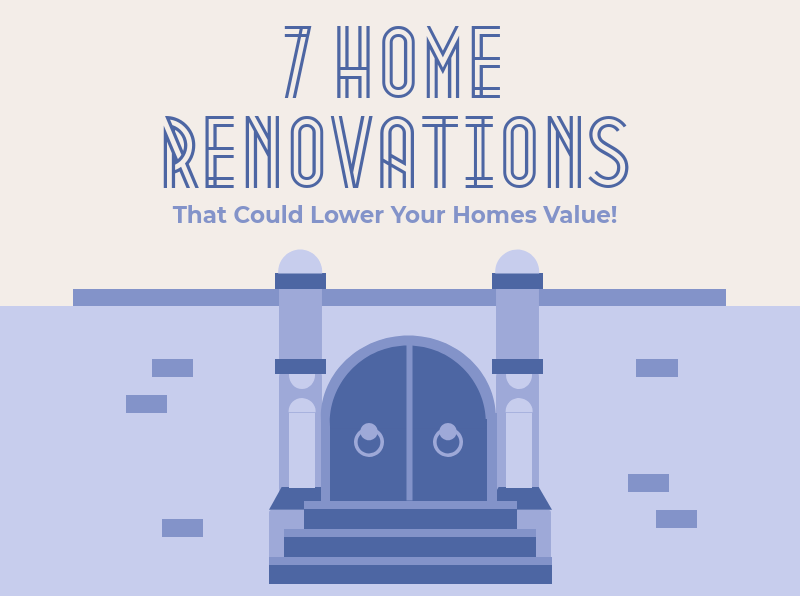 7 home renovations that could lower your homes value featured image