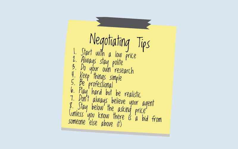 Negotiating tips for a first time home buyer