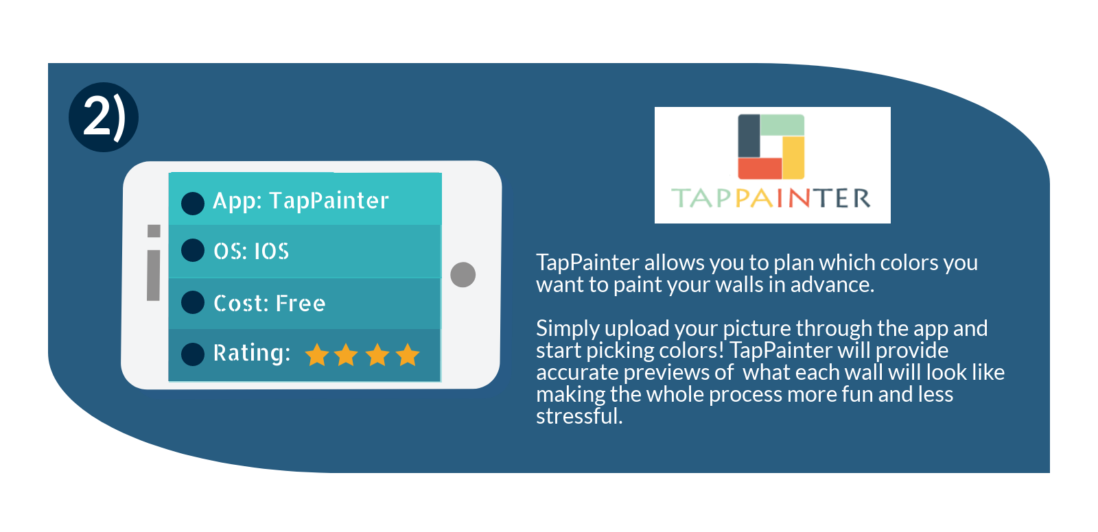 select what colors to paint your walls with the tappainter mobile app