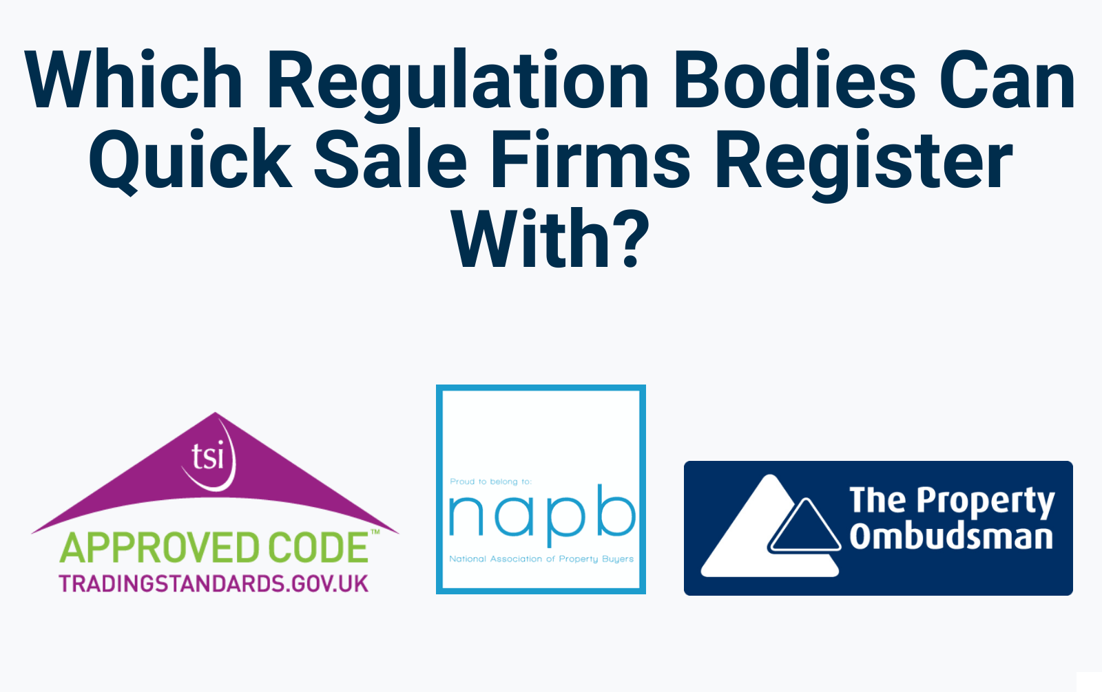 Which regulatory bodies should quick sale firms register with