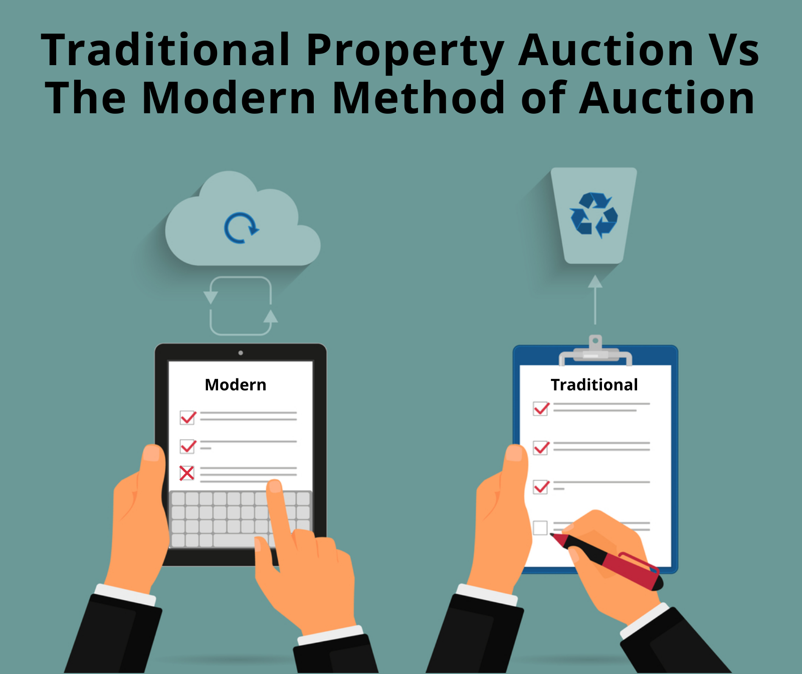 The traditional property auction vs modern method of auction