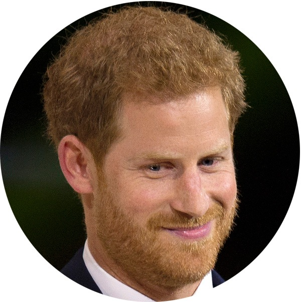 Prince Harry with a smiling face